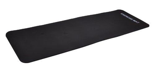 Yogamatte Pilates Gymnastikmatte EXTRA-dick 190 x 60 x 1,5 cm schwarz