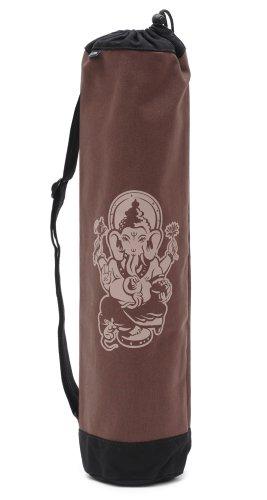 Yogistar Yogatasche Basic Ganesha – Baumwolle – 65 cm – Schwarz/Braun