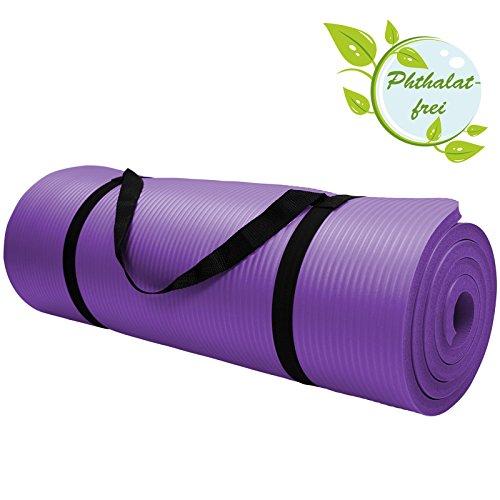 Yoga-Matte in vielen verschiedenen Größen und Farben rutschfest phthalatfrei für Gymnastik Turnen Pilates extra dick, Farbe:Vivid Violet;Maße:180 x 60 x 1.5 cm