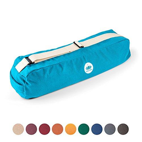 Lotuscrafts Yogatasche PUNE – fair und ökologisch aus Bio-Baumwolle – extra viel Platz für Yogamatten & Yoga-Zubehör