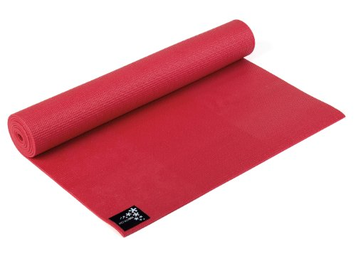 Yogistar Yogamatte Basic – rutschfest – Fire Red