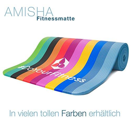 Fitnessmatte »Amisha« / dicke und weiche Sportmatte, ideal für Pilates, Gymnastik und Yoga, Maße: 183 x 61 x 1,2cm / aubergine