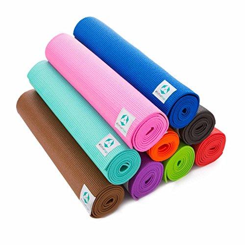 Yogamatte »Annapurna Comfort« – sehr rutschfest aus ECO-PVC hergestellt – die Matte Dank der rutschfesten Oberflächenstruktur angenehm bei Hautkontakt – zusätzlich ist die Matte rutschfest, strapazierfähig & langlebig. Maße: 183 x 61 x 0,5 cm – die ideale Unterlage für Yoga & Pilates türkis