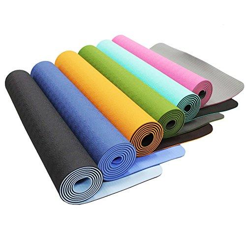 Yogamatte »Shitala« / Umweltfreundliche und hypo-allergene TPE-Matte/ weich und rutschfest / ideal für alle Yoga-Lehrer und Yogis / Maße: 183 x 61 x 0,5 cm / türkis
