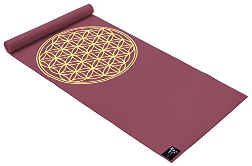 Yogistar Yogamatte Basic Flower of Life, bordeaux